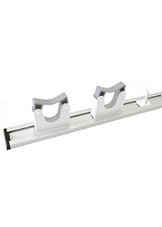 Wall-mountable holder with 2 EZ grips/hooks