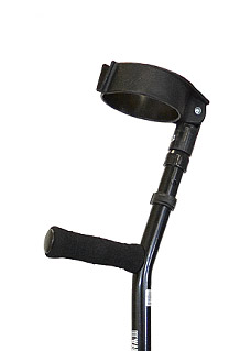 Adult bariatric forearm crutches, adjustable full cuff