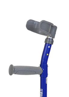 Pediatric forearm crutches, half cuff